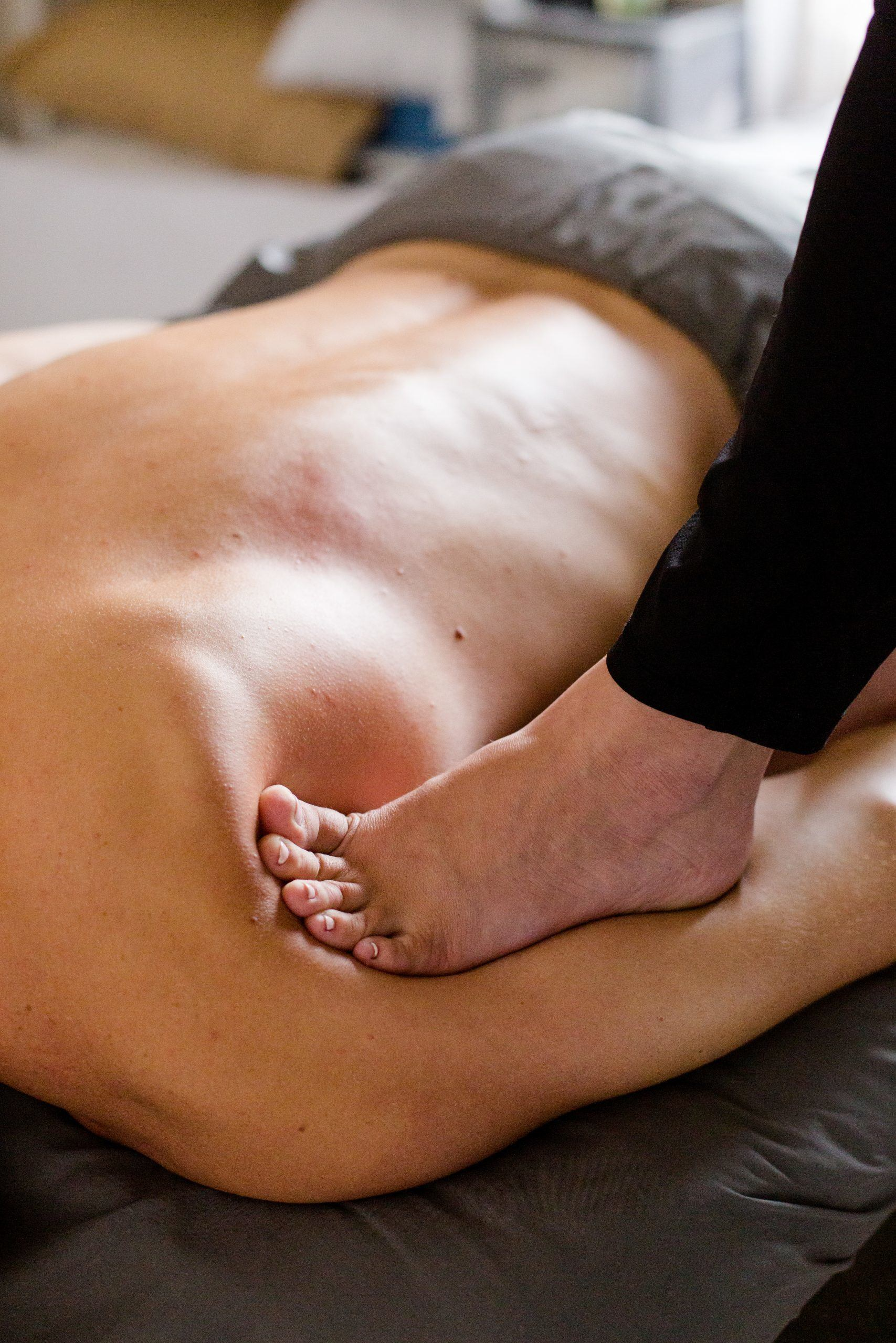 Ashiatsu Barefoot Massage | The Elm Massage + Bodywork